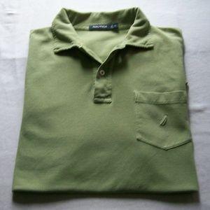 Nautica Light Green Short Sleeve Polo Shirt